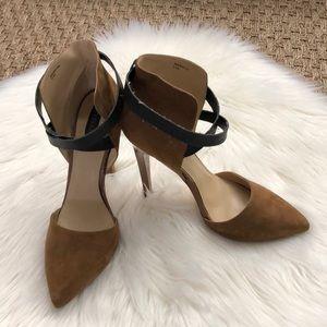 brown suede Sophia & Lee Nardith sandal booties 9